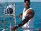 PK is the captain of Bahama Breeze, one of our incredible shark boats